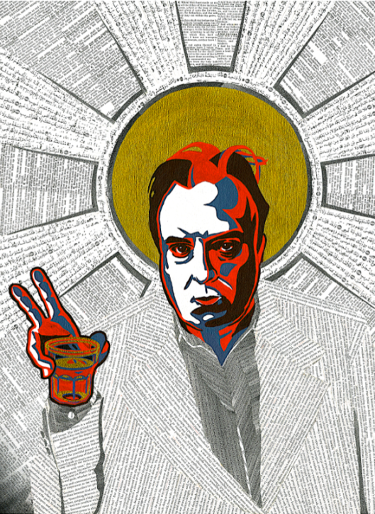 Christopher Hitchens Portrait by Adrian Covert