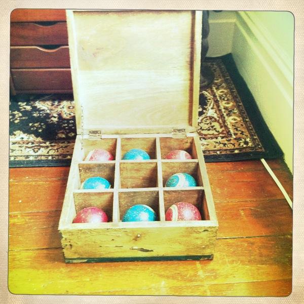 vintage bocce ball set