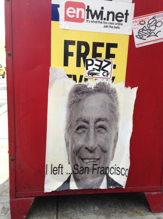 I left San Francisco Tony Benett
